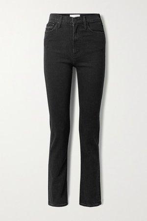 Rider High-rise Straight-leg Jeans - Black