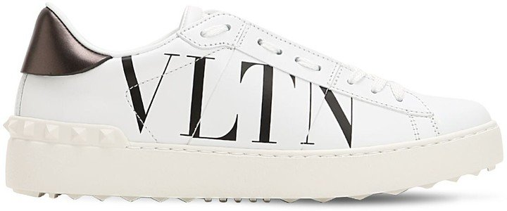 20mm Open Vltn Leather Sneakers