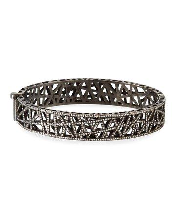 Yossi Harari 18k Gold & Rhodium Diamond Pave Cuff Bracelet