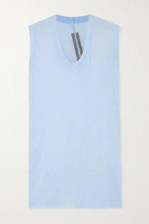 Cotton-jersey Tank - Light blue