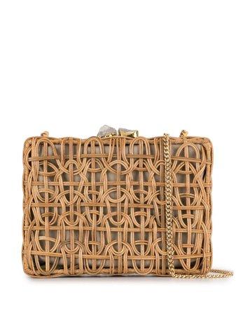 Aranaz CHLOE Square Clutch Bag CHLOE Brown | Farfetch