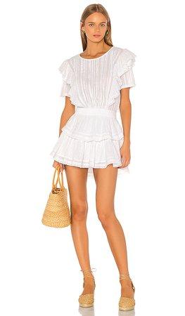 LoveShackFancy Natasha Dress in White   REVOLVE