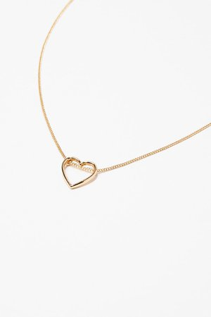 Cutout Heart Charm Necklace | Forever 21