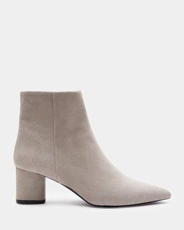 Suede Heel Boot
