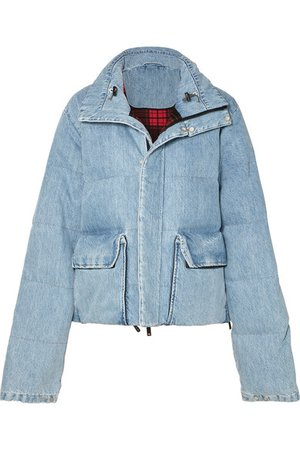 Unravel Project | Quilted denim coat | NET-A-PORTER.COM