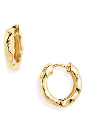 Argento Vivo Sterling Silver Molten Hoop Earrings | Nordstrom