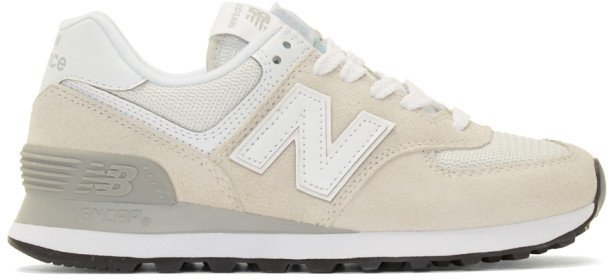 White and Grey 574 Core Sneakers
