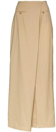 Asymmetric Front Slit Skirt