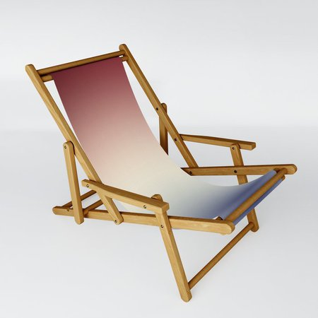Radical Red White Blue Sling Chair by deluxephotos | Society6