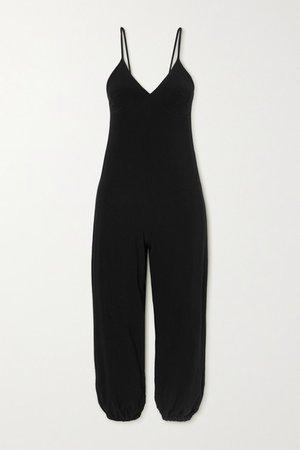 Stretch-jersey Jumpsuit - Black
