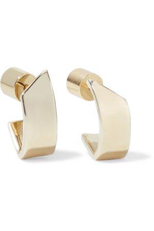 Jennifer Fisher   Pod Huggie gold-plated hoop earrings   NET-A-PORTER.COM