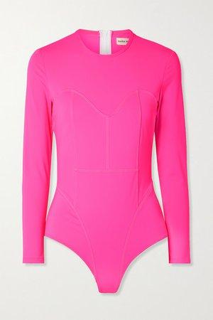 Net Sustain Lido Swimsuit - Bright pink