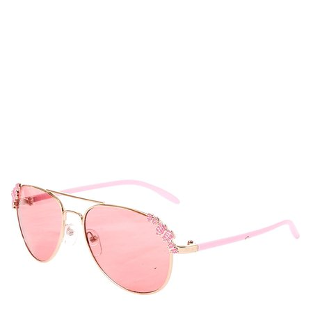 Claire's Club Pink Butterfly Aviator Sunglasses