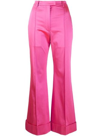 Shop pink House of Holland tailored satin trousers with Express Delivery - Farfetch