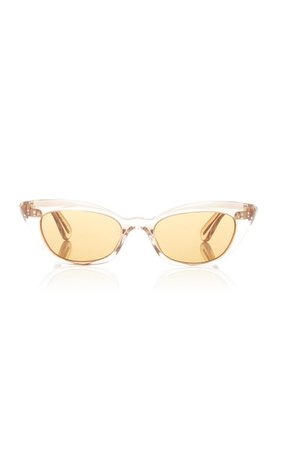 Bianka Acetate Cat-Eye Sunglasses By Oliver Peoples | Moda Operandi