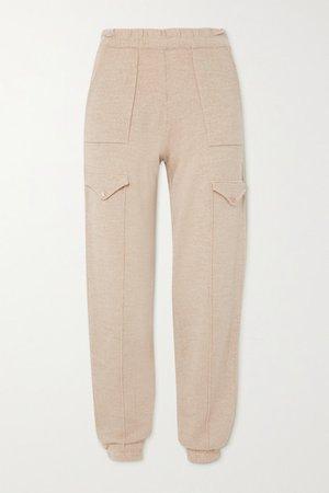 Ski Merino Wool Track Pants - Beige