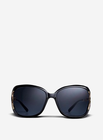 Black Cutout Oversized Sunglasses   Dorothy Perkins