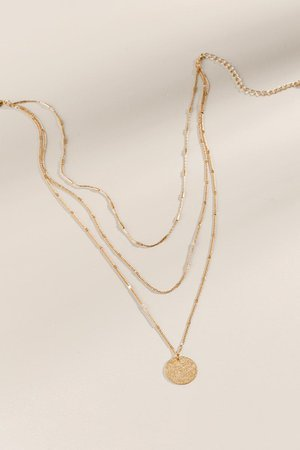 Brielle Layered Coin Necklace | francesca's