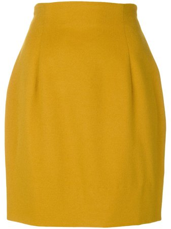 Versace Pre-Owned structured mini skirt - FARFETCH