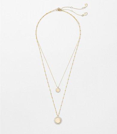 Sunshine Layered Necklace Set | LOFT
