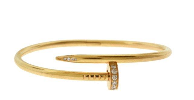 gold carrier nail bracelet