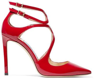 Lancer 100 Patent-leather Pumps - Red