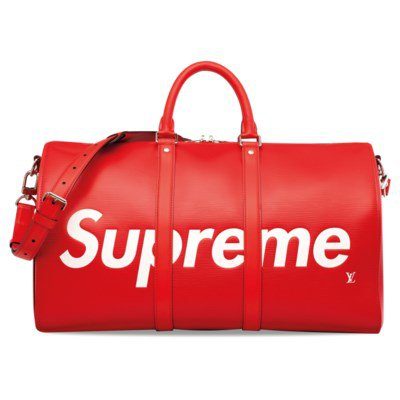 A LIMITED EDITION RED EPI LEATHER SUPREME KEEPALL 45 WITH SILVER HARDWARE | LOUIS VUITTON, 2017 | 21st Century, bags | Christie's
