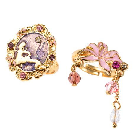 Dreamy Luna Rapunzel 2 Piece Ring - Angelic Pretty x Disney