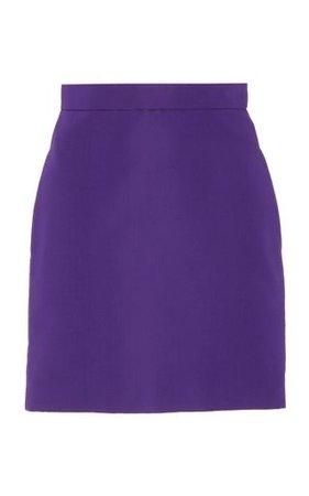 Christian Siriano Silk Satin A-Line Skirt