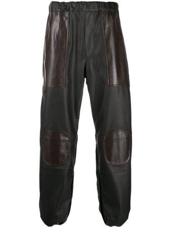 Gr-Uniforma Leather Look Track Pants GR03P001 Brown | Farfetch