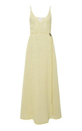 Striped Cotton-Blend Mesh Maxi Dress By Bottega Veneta | Moda Operandi