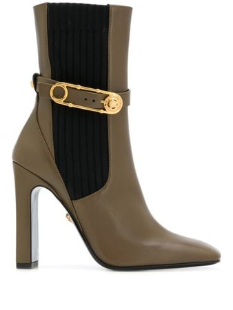 Versace Safety Pin mid-calf Boots - Farfetch