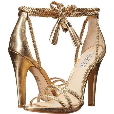 Rachel Zoe Odette (Gold Cracked Metallic Leather) High Heels