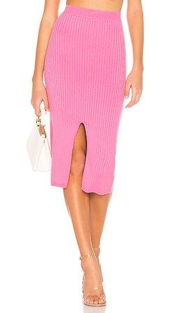 Free People Skyline Midi Skirt in Pink | REVOLVE