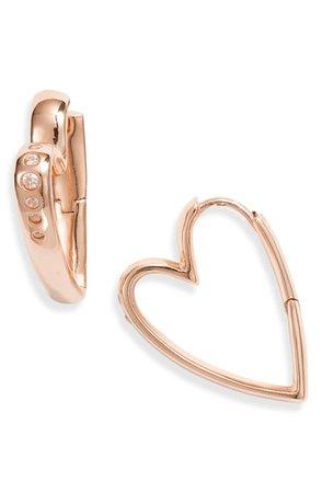 Kendra Scott Ansley Small Heart Hoop Earrings | Nordstrom