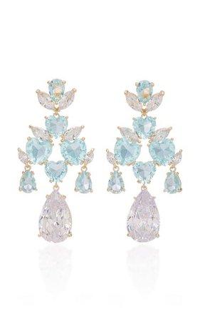 'candy' Crystal-Embellished Gold-Plated Earrings By Fallon   Moda Operandi