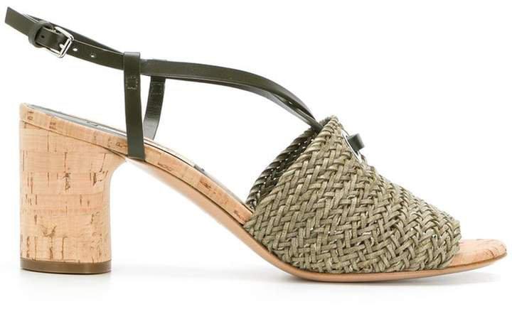 woven cork sandals