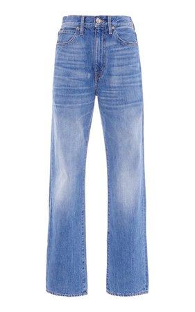 London Stretch High-Rise Straight-Leg Jeans By Slvrlake | Moda Operandi