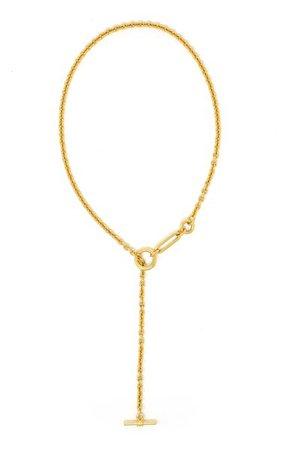 Gold-Plated Lariat Chain Necklace By Ben-Amun | Moda Operandi