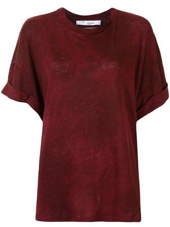 IRO rolled-sleeve Linen T-shirt - Farfetch