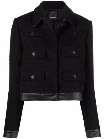 Pinko Cropped contrast-trim Jacket