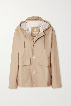 Hooded Shell Coat - Beige