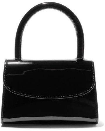 BY FAR - Mini Patent-leather Tote - Black