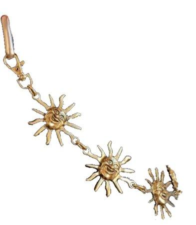 gold sun chain belt