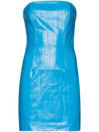 ROTATE Herla Vegan Leather Mini Dress - Farfetch