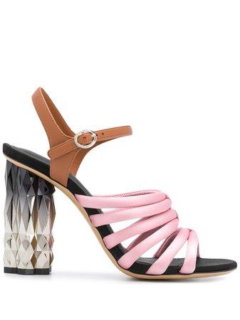 Salvatore Ferragamo Refracted Heel Sandals