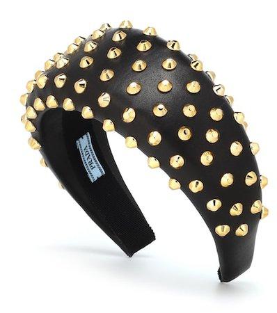 Studded leather headband