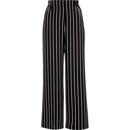 Black stripe wide leg pants - Wide Leg Pants - Pants - women