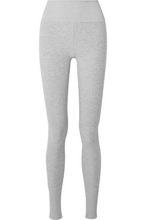 Alo Yoga | Lounge mélange stretch-jersey leggings | NET-A-PORTER.COM