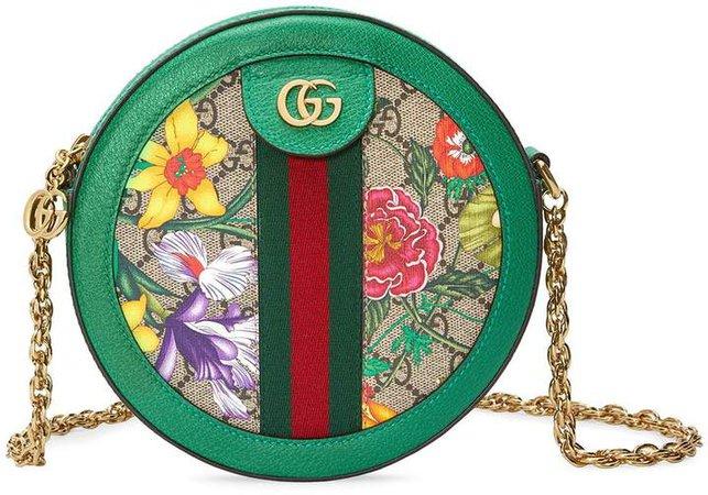 Ophidia GG Flora mini shoulder bag